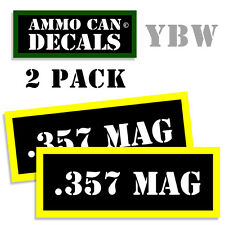 .357 MAG Ammo Label Decals Box Stickers decals - 2 Pack BLYW