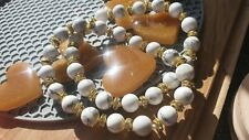 8mm Stone Bead Bracelet.. Good Gift. With Rhinestones Spacer Beads... Sparkly.