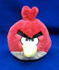 "Red Angry Bird Plush 8"" tall 16"" around Stuff Plush Yellow Peek"