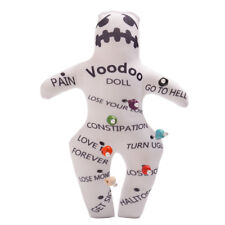 1pc Handmade Voodoo Doll With 7 color Skull Pins