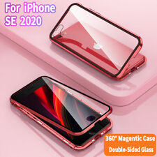360° Magnetic Adsorption Double Side Glass Case Cover For iPhone SE 2020 2nd Gen