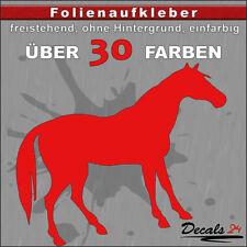 PF3 - Pferd Aufkleber Folienaufkleber Auto Wand Motiv - 30 Farben - H: 5-10cm