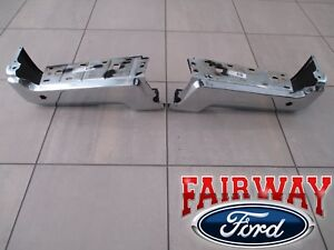 17 thru 22 Ford Super Duty OEM Ford Rear Chrome Step Bumpers with Backup Sensors