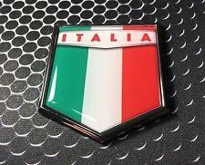"Italia Flag Domed CHROME Emblem Proud Italy Flag Car 3D Sticker Azzurri 2x 2.25"""