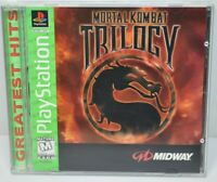Mortal Kombat Trilogy PlayStation PS1 Greatest Hits Midway Arcade - Perfect Disc