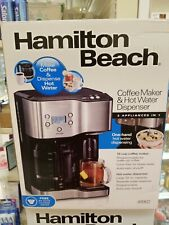 NEW Hamilton Beach 12-Cup Programmable Black Coffee Maker Hot Water Dispenser