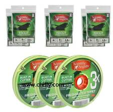 Sa Premium Trout Leaders & Tippet Pack (3X 4X 5X) 12 Leaders / 3 Tippet