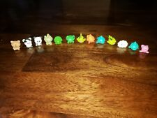 Lot of 13 Squinkies Pencil Toppers Animals - fish, bear, frog, turtle, dolphin +