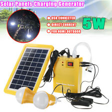 12V DC Solar Panels Charging Lighting Generator Power Energy System Home Outdoor