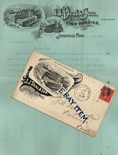 1895 J. J. DEAL & SON Jonesville Michigan PINSTRIPING RELATED Andrew MacK BRUSH