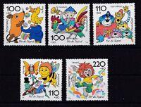 BRD 1998 postfrisch Für die Jugend MiNr. 1990-1994 Trickfilmfiguren