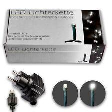 chaîne lumineuse LED 100 blanc pour intérieur & extérieur convient 10M PLUS 5M