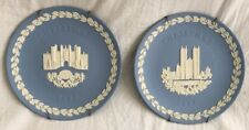 Wedgewood 1976, 1977 Christmas Plate Jasperware Westminster Abbey Hampton Court