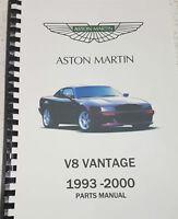 ASTON MARTIN V8 VANTAGE (VIRAGE) 93-00 PARTS MANUAL REPRINTED A4 COMB BOUND