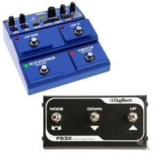 Digitech JamMan Stereo Looper Phaser Sampler Pedal JML2 + FS3X Footswitch