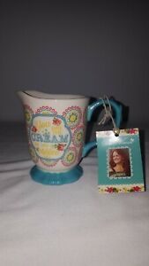 "Pioneer Woman Creamer Hyacinth Jubilee Stoneware""You Are The Cream In My Coffee"""