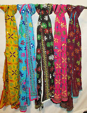 Wholesale lot 5 pieces Assorted Phulkari hand embroidered Dupatta Scarf Stole