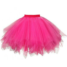 Womens Solid Pleated Gauze Short Skirt Adult Tutu Dancing Skirt Performance