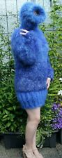Mohair sweater Pullover Balaclava  dick,  soft & fuzzy blue mix