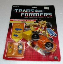 TRANSFORMERS TARGETMASTER AUTOBOT SCOOP 1987 HASBRO G1 BRAND NEW ON CARD