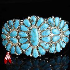 Vintage Navajo natural Turquoise cluster bracelet Traditional Native American