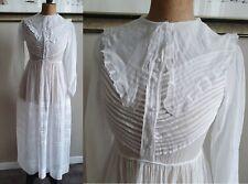 Robe ancienne en voile de coton blanc communion mariage - 451