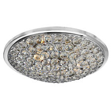 Searchlight 4163-35CC Orion Chrome 3 Light Flush Fitting Crystal Buttons