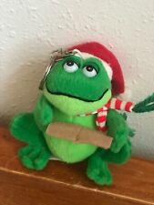 Frog Singing Christmas Carols Backpack Hanger Used Kurt S. Adler Plush Green