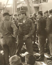 Elvis Presley In The Army 1958 On Deck of Ship To Germany In Uniform MUST SEE