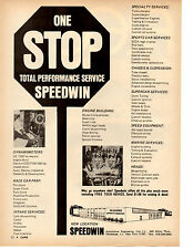 1972 SPEEDWIN AUTOMOTIVE ENGINEERING - HAUPPAUGE, NY  ~  NICE ORIGINAL PRINT AD