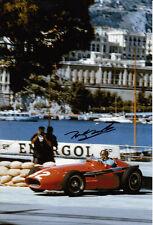 Tony Brooks Hand Signed Ferrari Photo 12x8 6.