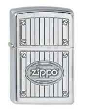 Zippo Briquet full metal panel High Polished Chrome Nouveau Gravure neuf dans sa boîte
