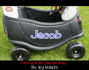 Replacement Stickers fits Little Tikes Custom Cozy Coupe Car Name Personalize 10