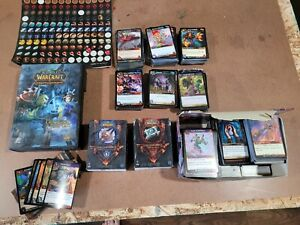 World of Warcraft TCG Old Card Lot, some loot cards