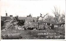 Easton between Wickham Market & Framlingham. Gale at Easton 1909.