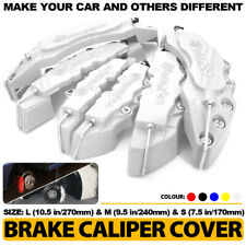 6Pc Silver 3D Brake Caliper Covers Style Disc Universal Car Front Rear L+M+S CY2