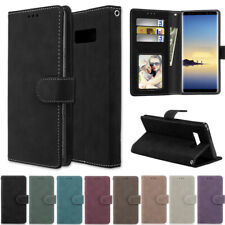 Matte Wallet Leather Flip Case Cover For Samsung S20 S10 S9 S8 Plus A510 J6 Plus
