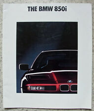 BMW 850i LF Car Sales Brochure Feb 1991 #111080621 2/91VM