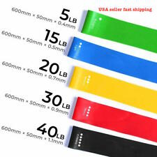 Resistance Bands Loop Set 5 CrossFit Fitness Yoga Booty Leg Exercise Band