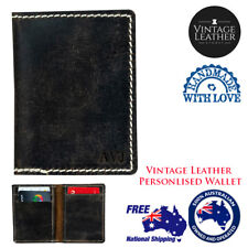 New Buffalo Leather Persoanlised Credit Card Leather Bi Fold Wallet Card Wallet
