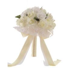 New ListingCrystal Roses Bridesmaid Wedding Bouquet Bridal Artificial Silk Flowers Us Store