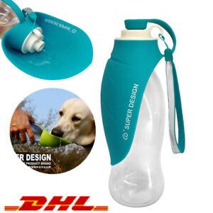 650ML Haustier Hunde Wasserflasche Trinkflasche Trinknapf Wassernapf Trink Näpfe