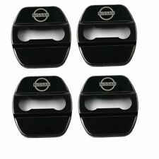 Black Stainless Steel Door Strikers Lock Buckle Cap Protective Cover For Nissan