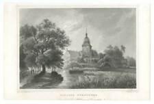 Schloss Fürstenau in Fürstenau - Stahlstich Lang/Rohbock 1852