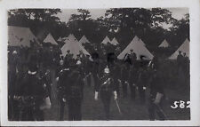 Officer Inspection of men at annual camp Essex Yeomanry some in full dress