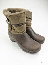 Dansko Shearling Lined Brown Leather Boots Sz 39 EU 8.5 US