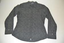 THE NORTH FACE GRAY WESTERN DOUBLE POCKET DRESS SHIRT WOMENS SIZE SMALL S