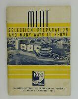 1934 Armour Building Souvenir Meat Preparation Booklet Recipes