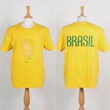 NIKE MENS BRAZIL T-SHIRT FOOTBALL SOCCER DISTRESSED PRINT SHIRT 00'S BRASIL XL