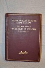 1900 - A Guide To English Literature Essay On Gray - Matthew Arnold